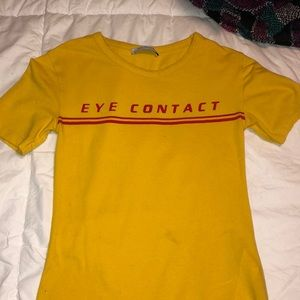 """Zara body suit t shirt """"Eye Contact"""" 💛"""